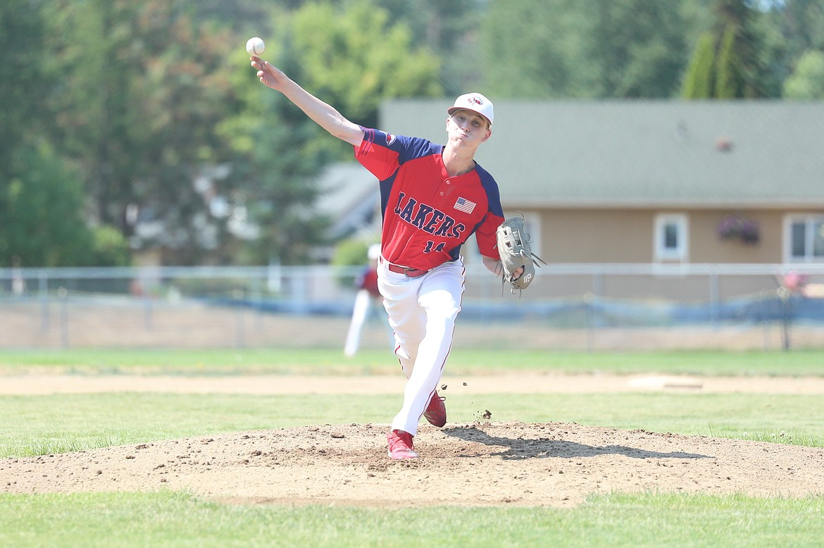Alex Leverich pitches on Friday.