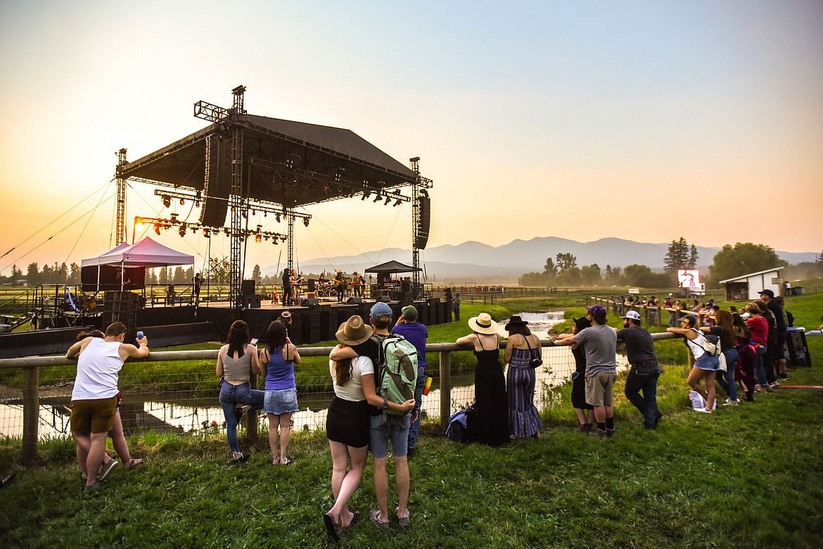 Fans watch as Mike Murray performs on the Big Mountain Stage at Under the Big Sky Festival in Whitefish on Friday, July 16. (Casey Kreider/Daily Inter Lake)