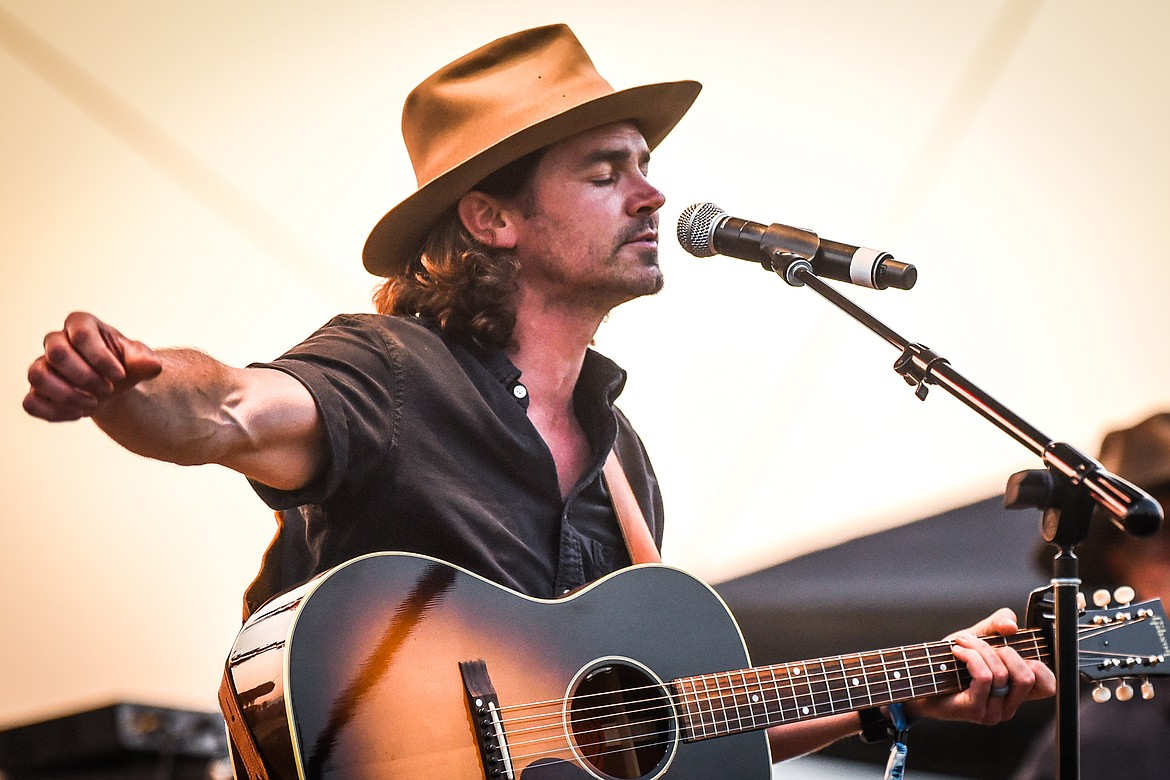Mike Murray performs on the Big Mountain Stage during Under the Big Sky Festival in Whitefish on Friday, July 16. (Casey Kreider/Daily Inter Lake)