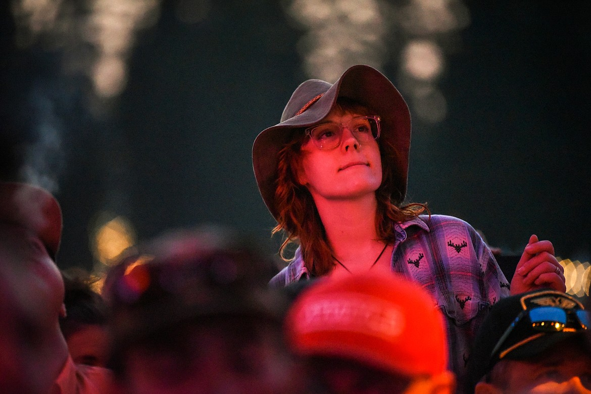 Fans listen to a performance by Billy Strings during the Under the Big Sky Festival in Whitefish on Friday, July 16. (Casey Kreider/Daily Inter Lake)