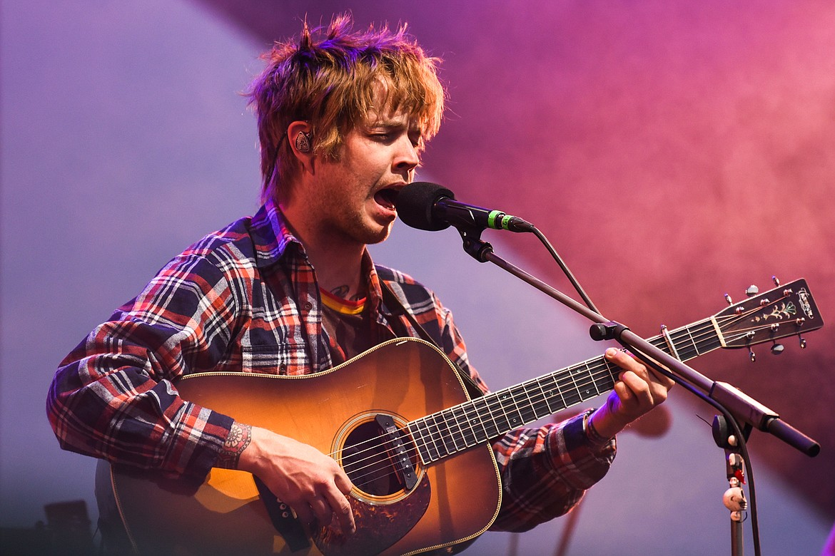 Billy Strings performs at Under the Big Sky Festival in Whitefish on Friday, July 16. (Casey Kreider/Daily Inter Lake)