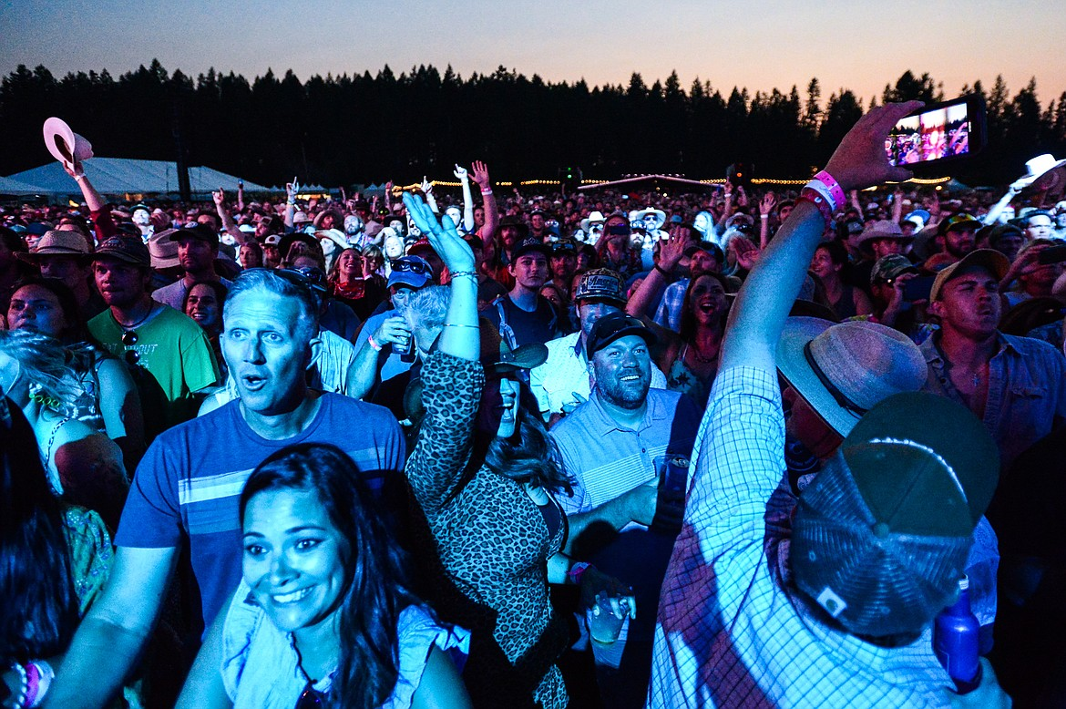 Fans watch as Billy Strings performs at Under the Big Sky Festival in Whitefish on Friday, July 16. (Casey Kreider/Daily Inter Lake)