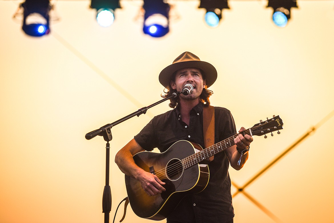 Mike Murray performs on the Big Mountain Stage at Under the Big Sky Festival in Whitefish on Friday, July 16. (Casey Kreider/Daily Inter Lake)