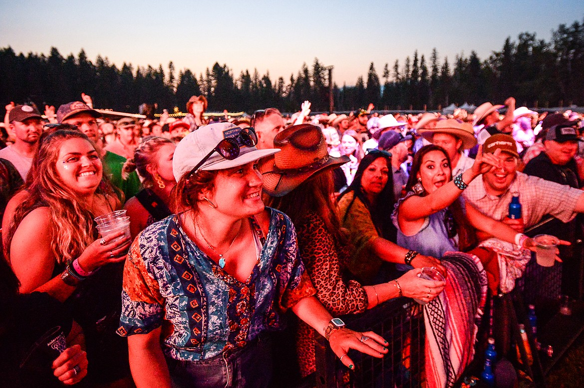 Fans dance during a performance by Billy Strings at Under the Big Sky Festival in Whitefish on Friday, July 16. (Casey Kreider/Daily Inter Lake)