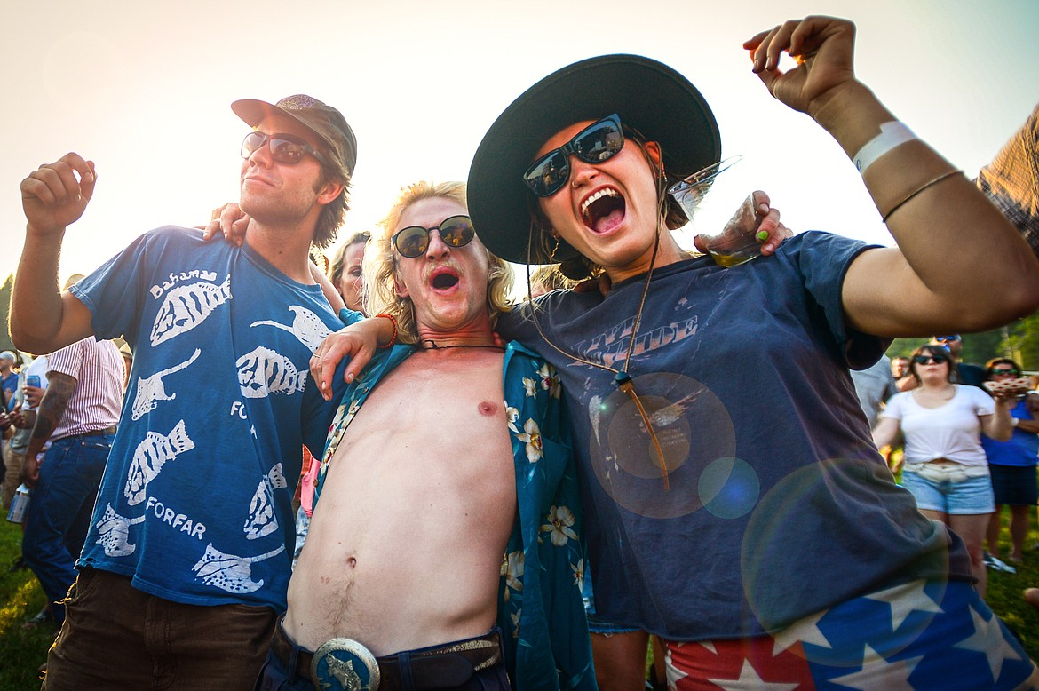 Fans dance during a performance by Dwight Yoakam at Under the Big Sky Festival in Whitefish on Friday, July 16. (Casey Kreider/Daily Inter Lake)