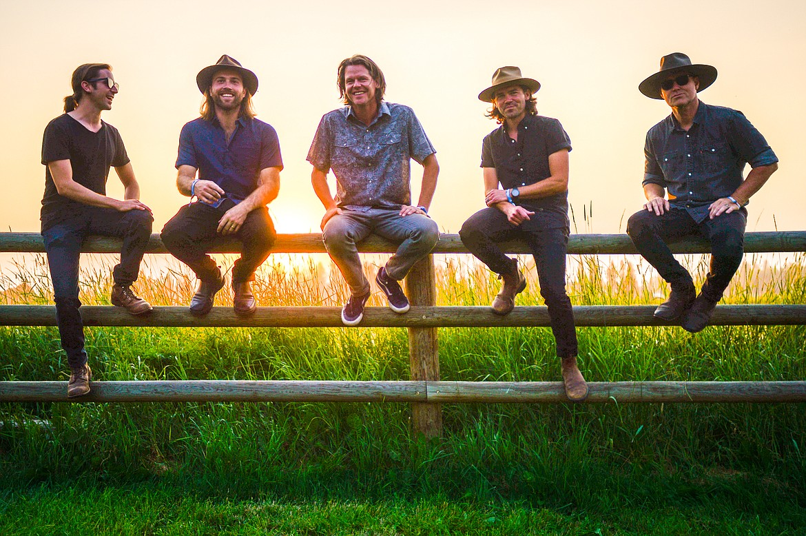 From left, Paul Merendino, Ross Bridgeman, Todd Cowart, Mike Murray and Chris Krager before their performance at Under the Big Sky Festival in Whitefish on Friday, July 16. (Casey Kreider/Daily Inter Lake)