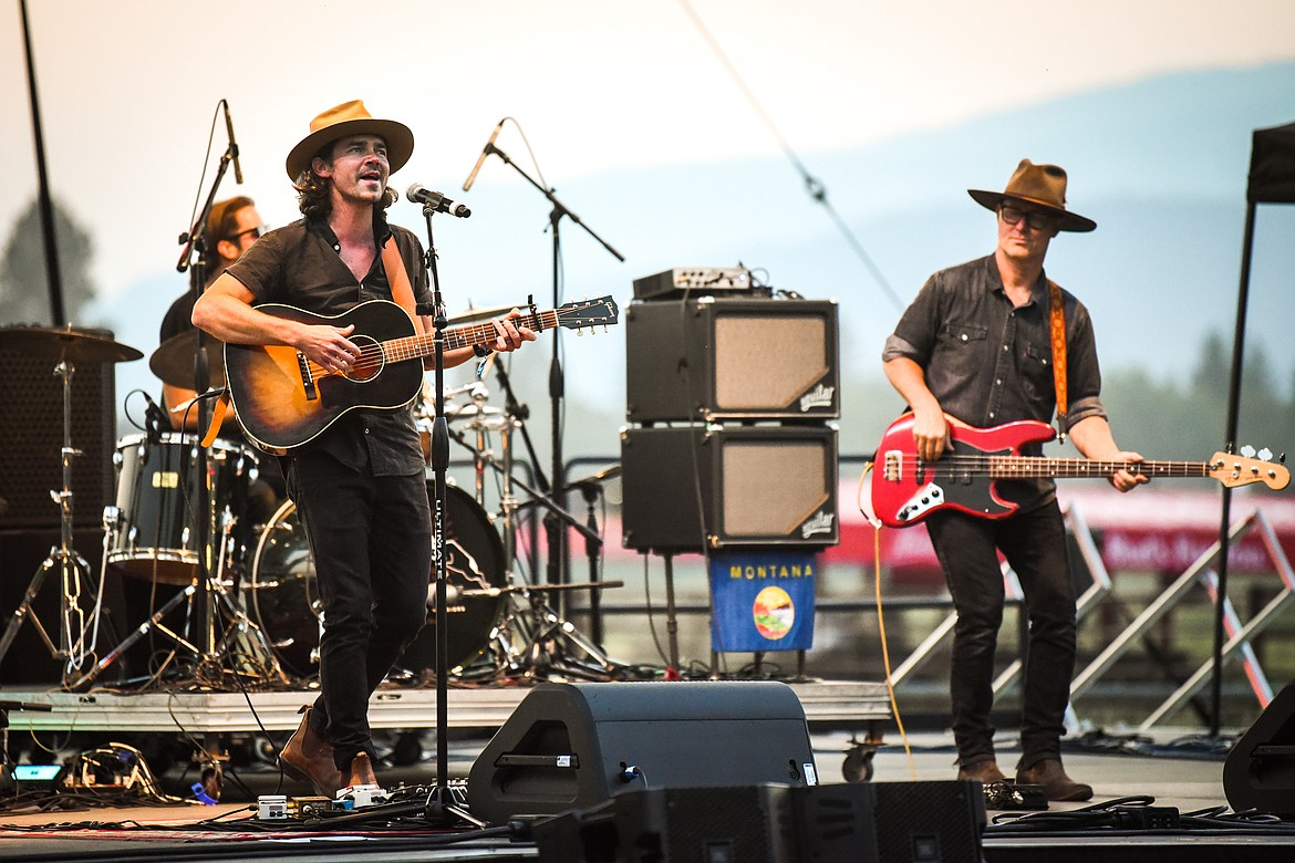 Mike Murray and Chris Krager perform on the Big Mountain Stage at Under the Big Sky Festival in Whitefish on Friday, July 16. (Casey Kreider/Daily Inter Lake)