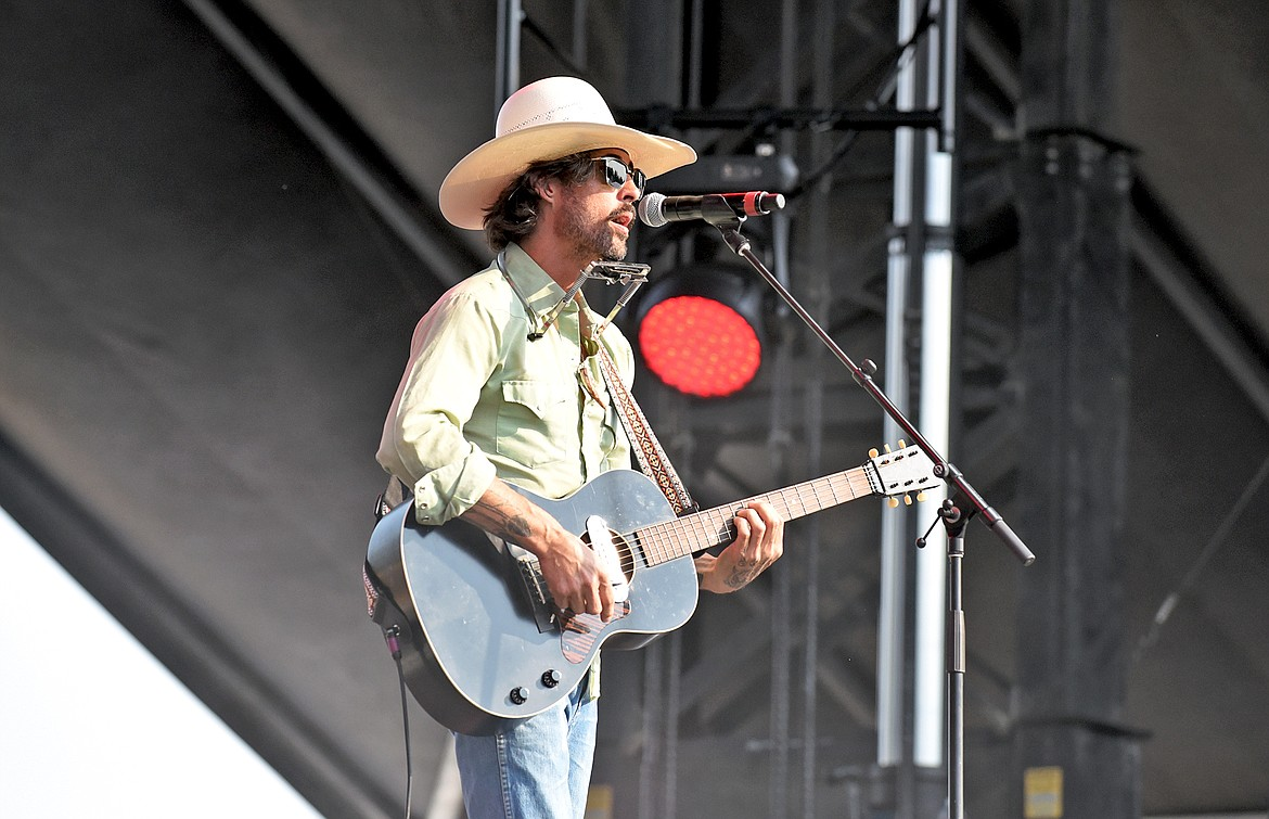 Ryan Bingham opens his set on the Great Northern Stage at the Under The Big Sky Festival in Whitefish on Friday. (Whitney England/Whitefish Pilot)