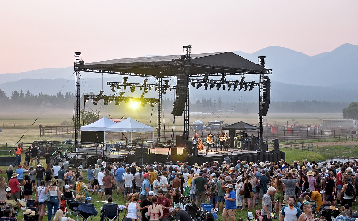 The Lil Smokies band out of Missoula performs at the Under The Big Sky Festival at Big Mountain Ranch in Whitefish on Saturday. (Whitney England/Whitefish Pilot)