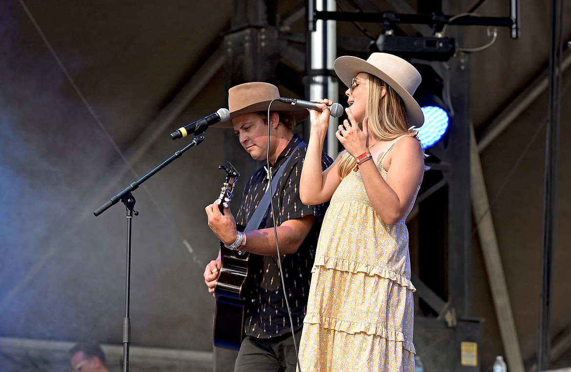 Local band Archertown performs on the main stage at the Under The Big Sky Festival in Whitefish on Friday. (Whitney England/Whitefish Pilot)