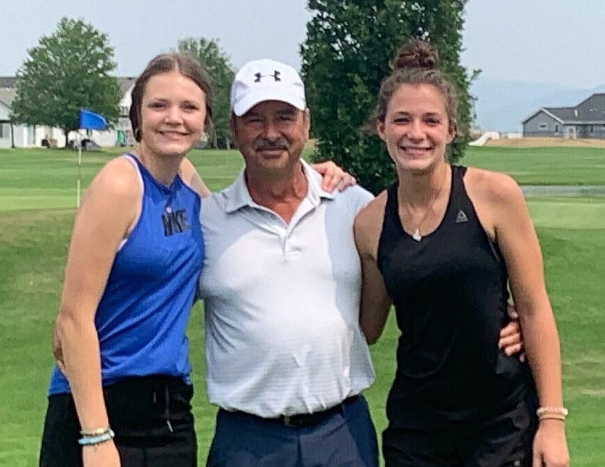 Demi Driggs, Timothy Morton and Alexa Tuinstra pose for a photo at Monday's Inland Empire PGA Pro-Junior at Prairie Falls Golf Club.