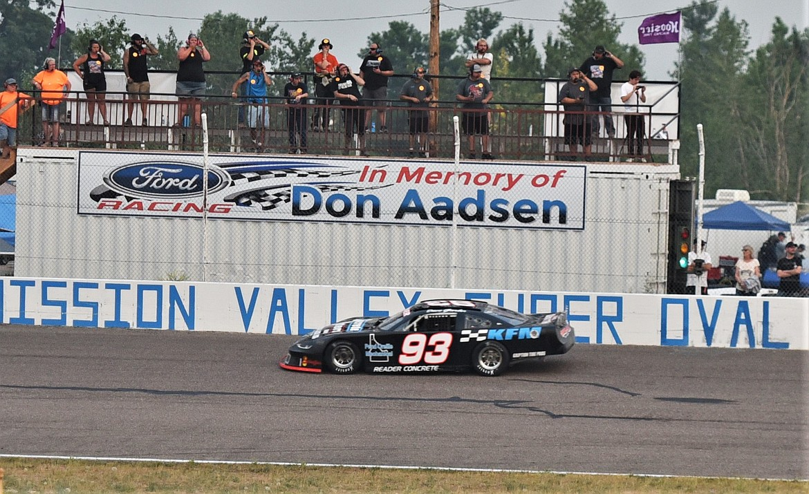 Dave Garber built a lengthy early lead after starting from the pole position. (Scot Heisel/Lake County Leader)