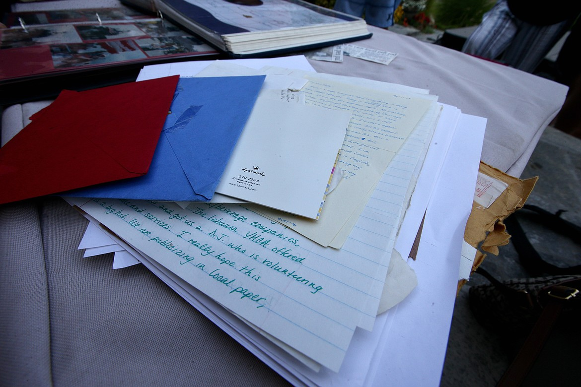 Abbie Burton and Terry Alling have saved more than 30 years of correspondence.