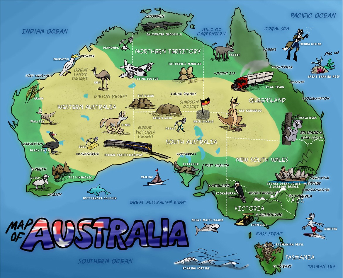 The Australian Outback is about half the size of continental USA.