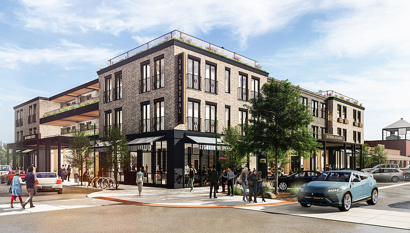 An architectural rendering shows a proposed boutique hotel on Central Avenue in downtown Whitefish. (Courtesy of Averill Hospitality)