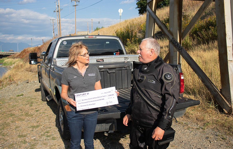 Kirsten Madden and BCSO Sheriff Dave Kramer