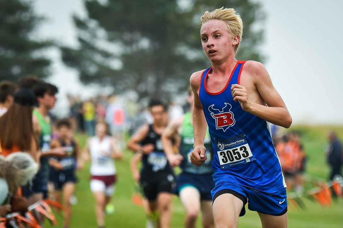 Bigfork's Jack Jensen finished the Flathead Invite at Rebecca Farm with a time of 17:53.97 on Friday, Sept. 10. (Casey Kreider/Daily Inter Lake)