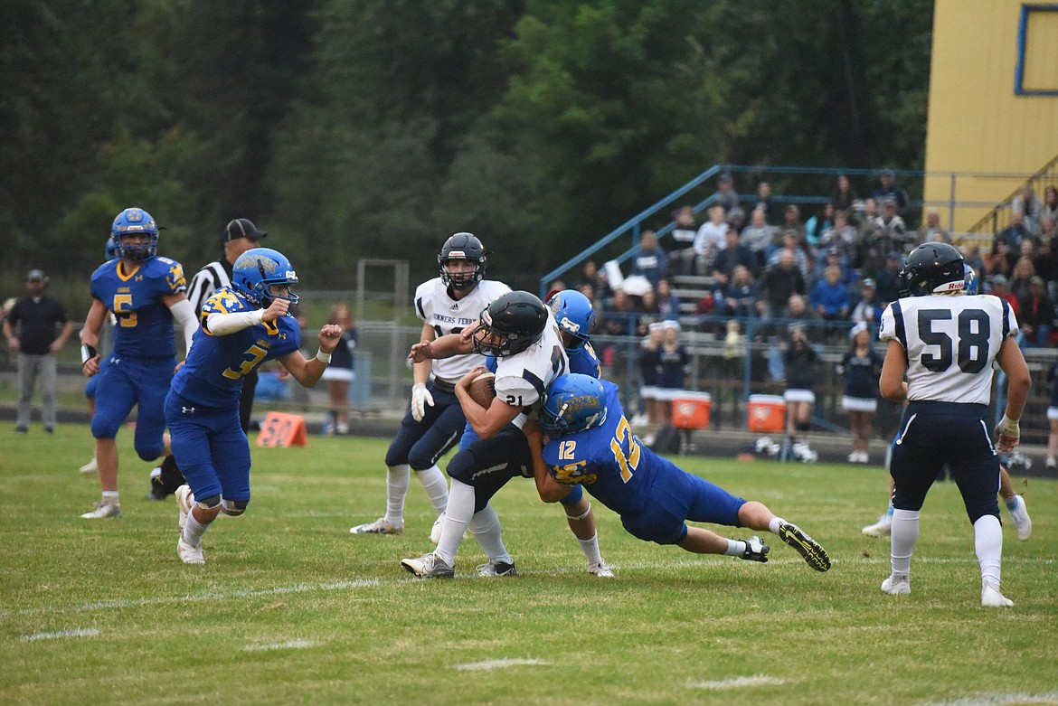 The Libby Loggers fell 7-0 to Bonners Ferry in a tough Sept. 10 matchup. (Derrick Perkins/The Western News)