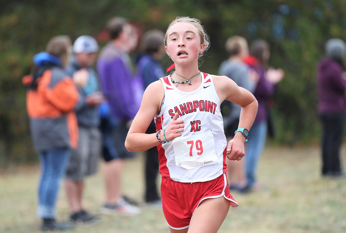 Grace Rookey competes in Saturday's meet.