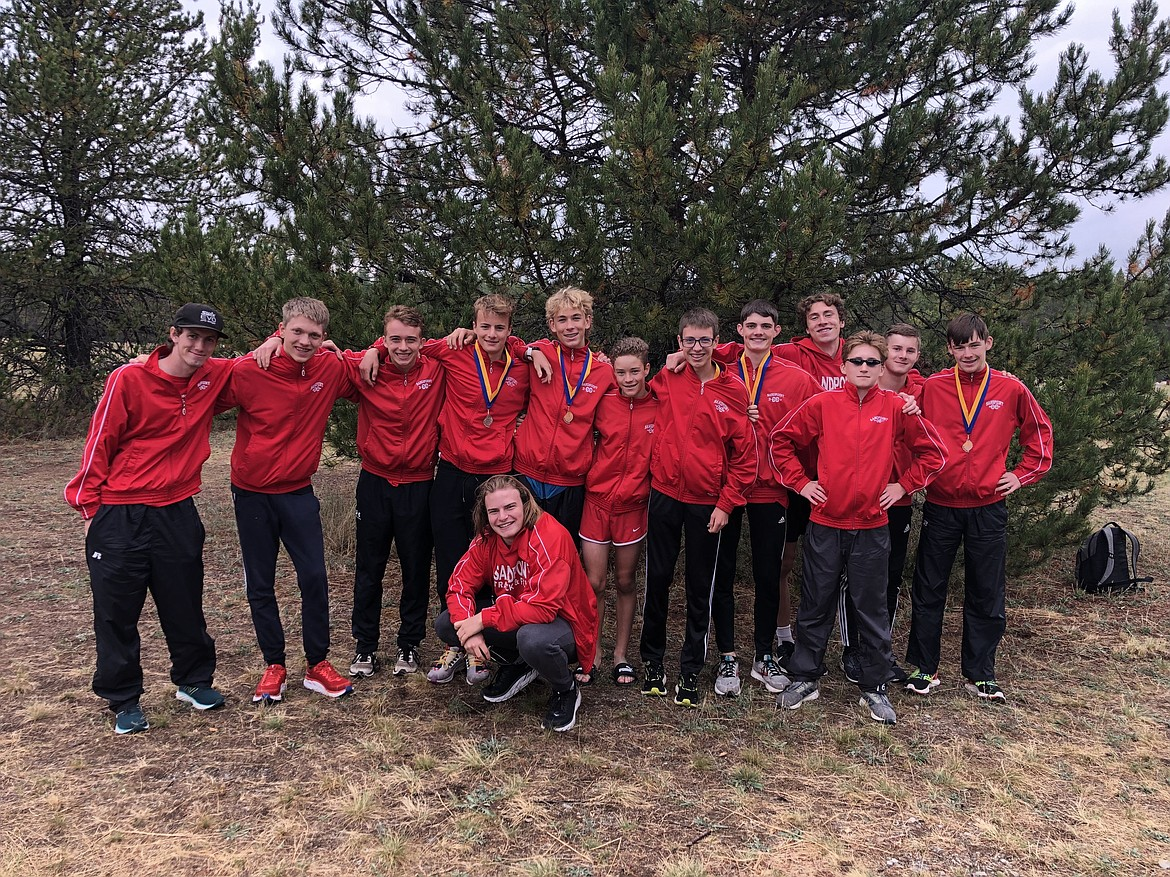 The first-place Sandpoint JV boys team poses for a photo on Saturday.