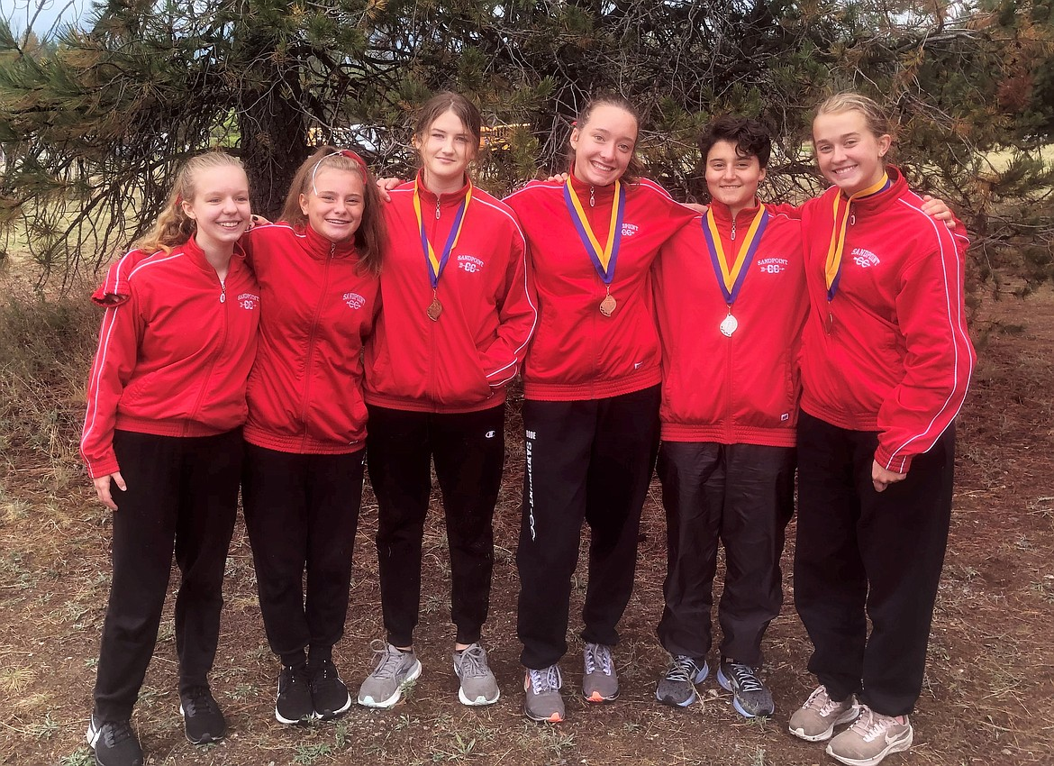 The first-place Sandpoint JV girls team poses for a photo on Saturday.