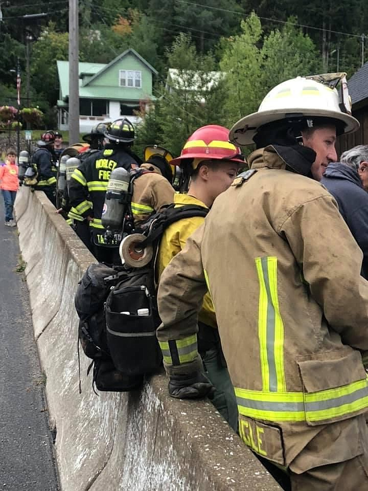 Firefighters from the Shoshone County Fire District No. 1, No. 2, Kootenai County Fire and Rescue, Selkirk Fire, Idaho Department of Lands and Worley Fire participated in this year's climb.
