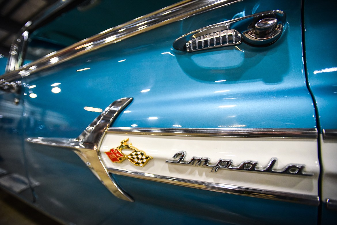 Door panel detail of a 1960 Chevy Impala owned by Jim Terry of Great Falls at the Glacier Street Rod Association's 40th annual car show at the Flathead County Fairgrounds on Saturday, Oct. 9. (Casey Kreider/Daily Inter Lake)