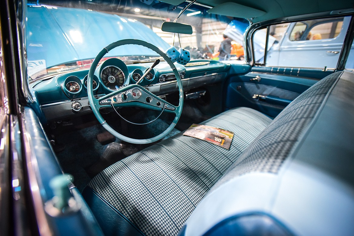 A look inside a 1960 Chevy Impala owned by Jim Terry of Great Falls at the Glacier Street Rod Association's 40th annual car show at the Flathead County Fairgrounds on Saturday, Oct. 9. (Casey Kreider/Daily Inter Lake)
