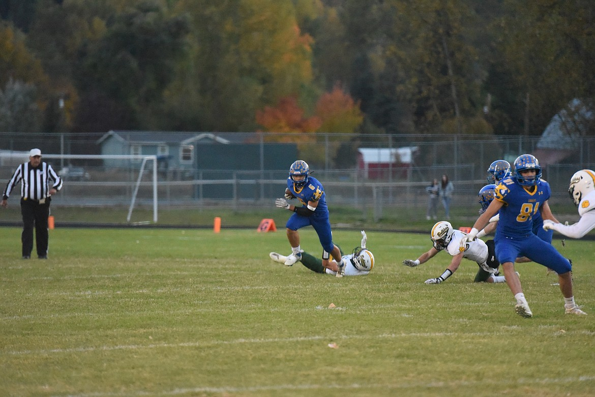 Despite dominating possession during the first half, the Libby Loggers fell to the Whitefish Bulldogs on Oct. 8. (Derrick Perkins/The Western News)