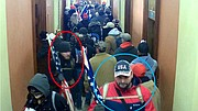 """Surveillance videos inside the U.S. Capitol on Jan. 6 show the brothers in the hallway outside the Speaker of the House's offices, according to the document. Video courtesy KREM 2 News, a Hagadone News Network news partner. For more from our news partner, click <a href=""""http://KREM.com"""">here</a>."""